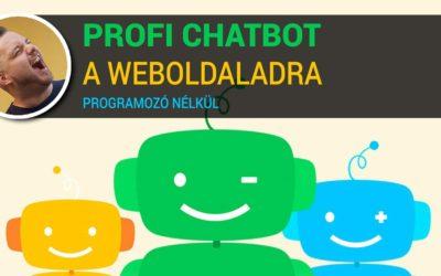 Chatbot készítés programozói tudás nélkül